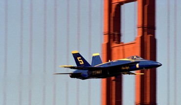 California golden gate bridge san francisco blue angels HD wallpaper