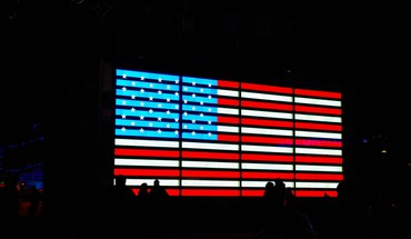 amerikanische Flagge times square  HD wallpaper