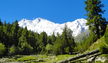 Parbat fairy meadows beautiful landscape mountain range HD wallpaper