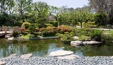 Japanese gardens HD wallpaper