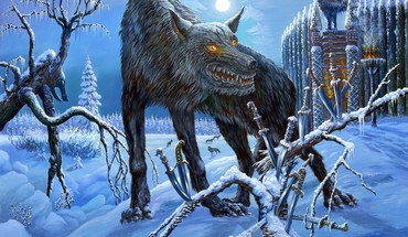 Fantasy Art Oeuvre loups-garous de mythologie Vsevolod Ivanov  HD wallpaper