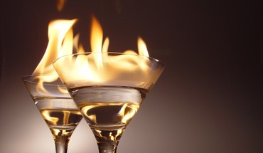 Flames fire glasses alcohol wine champagne HD wallpaper