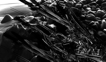 Black and white color splash 3d HD wallpaper