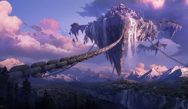 Lineage artwork canyon chains forests HD wallpaper