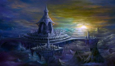 Castles digital art fantasy fortress HD wallpaper