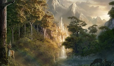 Artwork fantasy art landscapes nature HD wallpaper