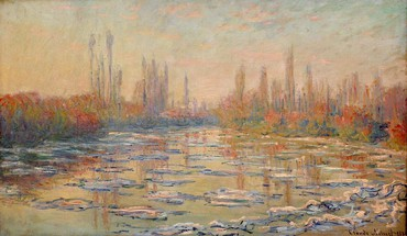 Paintings ice rivers seine claude monet impressionism HD wallpaper