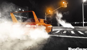 Light cars roads dodge challenger burnout HD wallpaper