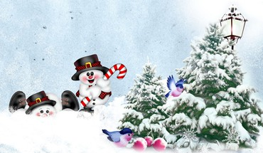 Snowman žaisti  HD wallpaper