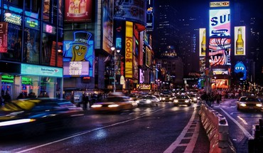 New York City Times Square mehrfarbigen  HD wallpaper