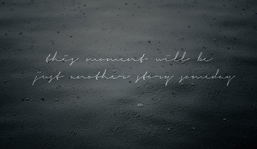 Rain typography ripples moment HD wallpaper