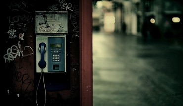 Cityscapes depth of field payphone phones streets HD wallpaper