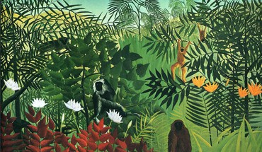 Artwork monkeys french traditional art henri rousseau HD wallpaper