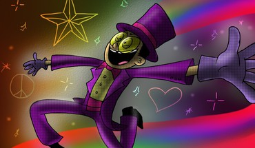 Stars suit rainbows superjail peace sign the warden HD wallpaper