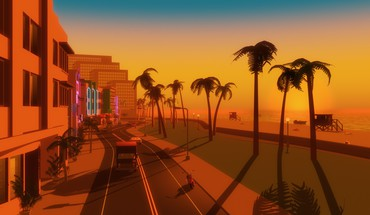 Video games palm trees gta vice city beach HD wallpaper