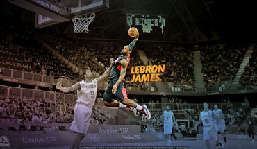 Nba lebron james dunk joueur de basket  HD wallpaper