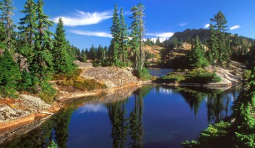 Nature forest dreams national lakes HD wallpaper