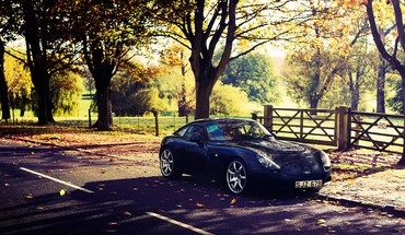 Trees cars tvr tuscan HD wallpaper
