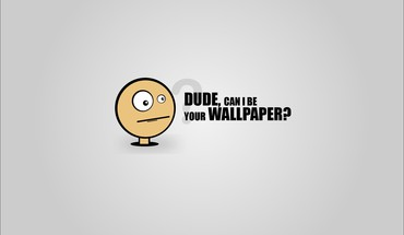 Minimalistic funny simple comic style HD wallpaper