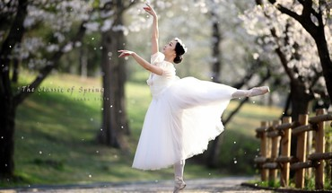 Landscapes spring (season) dancing classic art HD wallpaper
