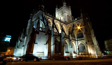 Gothic architecture churches cityscapes night HD wallpaper