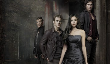 Elena Gilbert Paul Wesley stefan salva damon  HD wallpaper