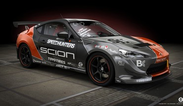 3d modeling scion photoshop sponsor fr-s vray HD wallpaper