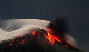 Mountains volcanoes lava ecuador HD wallpaper