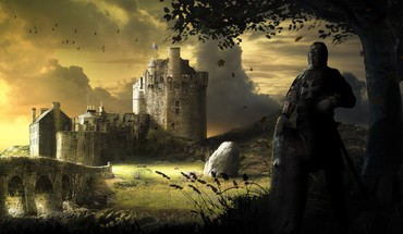 Castles fantasy art HD wallpaper