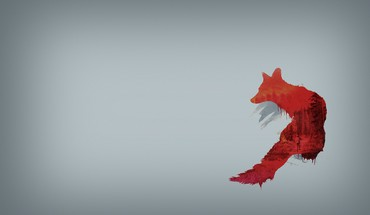 Abstract minimalistic red simple background grey foxes HD wallpaper