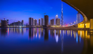 Cityscapes night dubai HD wallpaper
