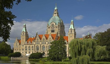 Trees germany buildings city hall bing HD wallpaper