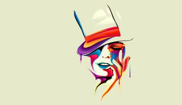 Woman melting multicolor HD wallpaper