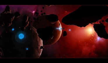 Outer space fantasy art HD wallpaper