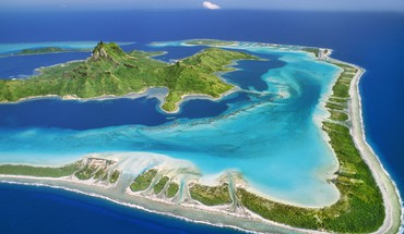 Nature reef tahiti around mount bora HD wallpaper
