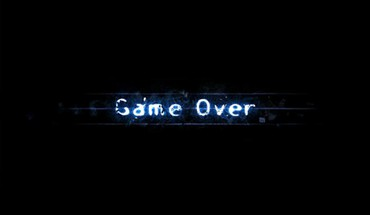 Game over light minimalistic typography HD wallpaper