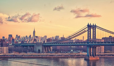 New York City tiltų pastatai cityscapes debesys  HD wallpaper