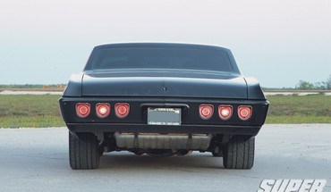 Cars muscle chevrolet sinister taillights super chevy magazine HD wallpaper