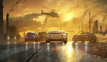 Helicopters cars police need for speed races HD wallpaper