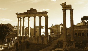 Roman empire architecture historic ruins sepia HD wallpaper