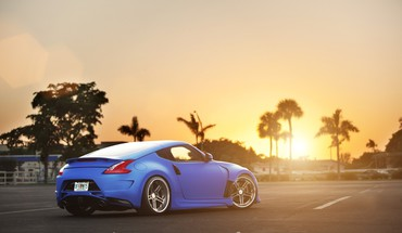 Sunset blue nissan 370z HD wallpaper