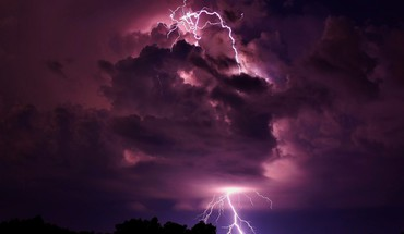 Clouds storm lightning HD wallpaper