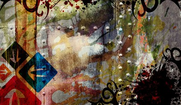 Abstract multicolor grunge digital art HD wallpaper