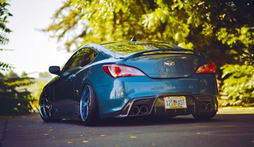 Cars tuning hyundai genesis coupe stance slammed camber HD wallpaper