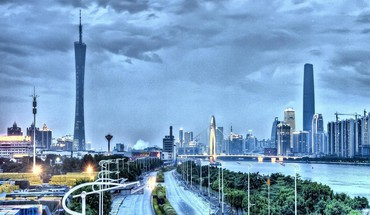 Hunan bridge in guangzhou china hdr HD wallpaper