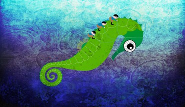 Digital art seahorses HD wallpaper