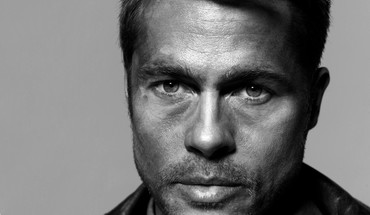 Black and white men brad pitt actors faces HD wallpaper