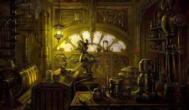 Tinker digital art robots steampunk HD wallpaper