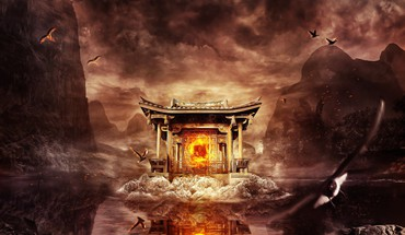 Chinese shrine HD wallpaper
