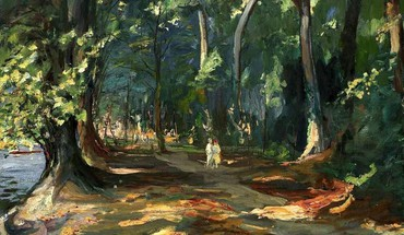 Forest people artwork lakes irish john lavery HD wallpaper